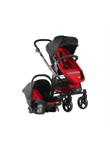 BabyHope Bh3030 Taşınabilir Puset Eşya Bölmesi Emniyet Kemerli Bebek Arabası Gri
